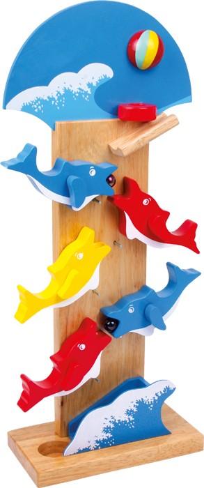 Kulebane Delfin. Kulebane i tre med delfiner.