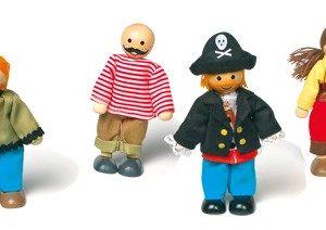 Små bøyelige pirat dukker
