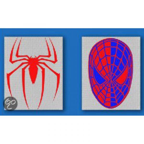 Ministeck Spiderman, mosaikk motiv med spider man.