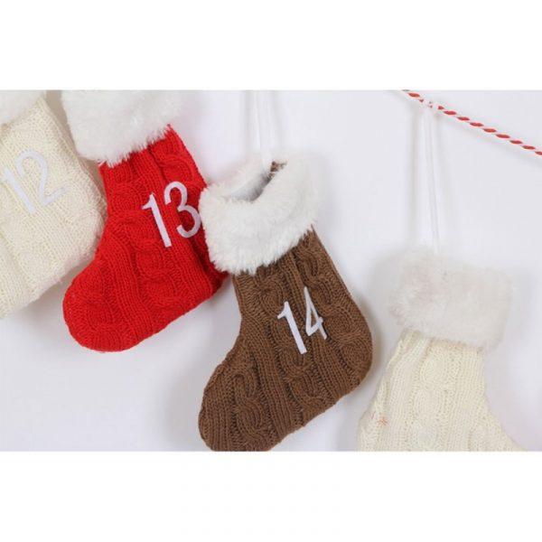 Adventskalender strikkesokker Advent kalender. Julekalender, kalender til Jul.