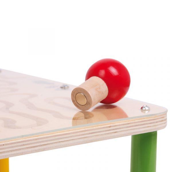 Magnet labyrint bord. Magnetlabyrint, motorikk metallkuler. Spill 2 baner konkurranse.