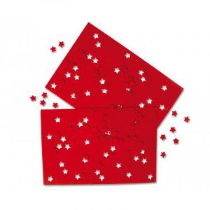 Hobby, Filt sett med utstansede stjerner. Rød