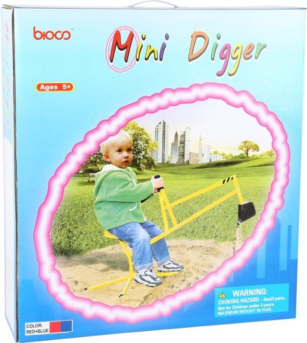Gravemaskin for sandkasse. Minigraver leke for barn. Metall graver. Barn leker som voksne.