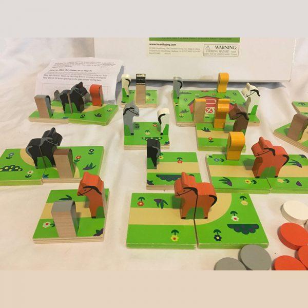 3-D Ponny farm 2 i 1. Spill pony farm. Hester, klassisk spill med hest.