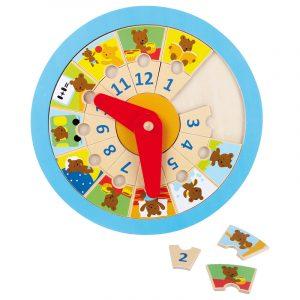 Lær tiden med Lillebjørn. Lære klokka