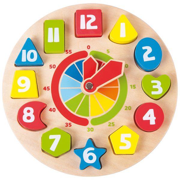 Lær klokken med former