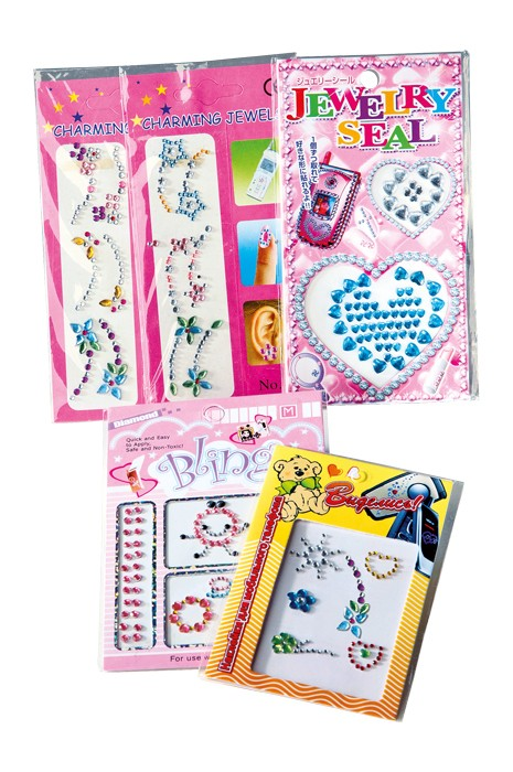 Stickers Bling, sett med 5 pakker klistremerker
