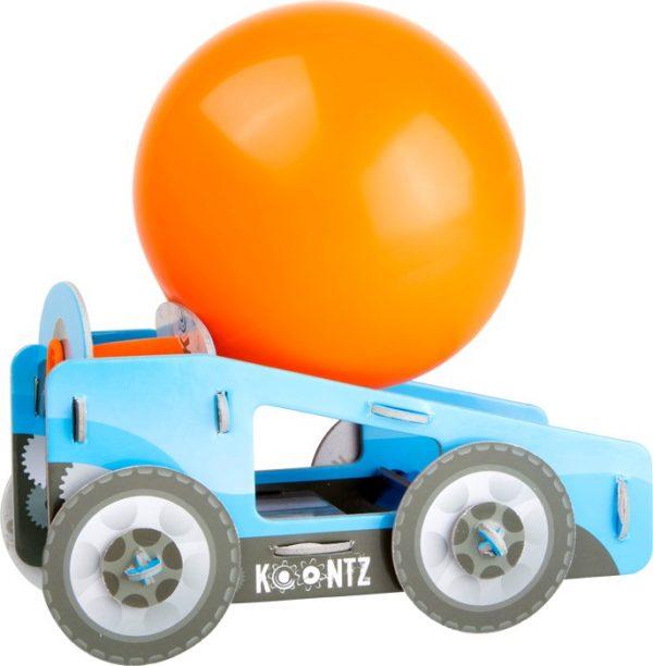 Byggesett Jet bil med ballong. Spennende konstruksjons sett som viser hvordan det virker og gjøres.