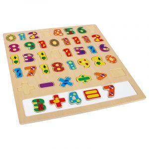 Puttepuslespill, regning. Morsomt med matematikk. Trepuslepill. Magnetisk tavle.