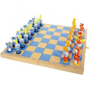 Sjakk for barn med riddere. Det klassiske sjakk spillet i ny drakt.