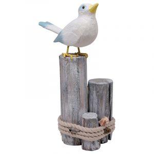 Sjøfugl på påle dekorasjon