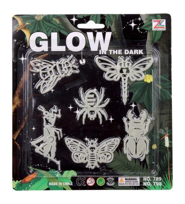 Lysende insekter, fluoriserende grønt lys. Glow in dark