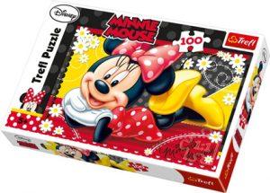 Minnie Mus puslespill, 100 biter