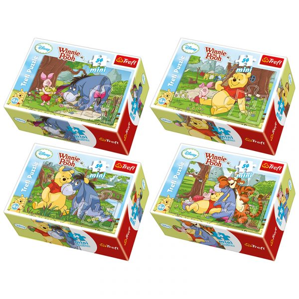 Mini puslespill Ole brum og vennene hans. innie the Pooh. Barnepuslespill.