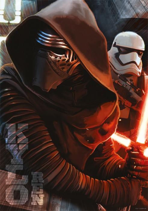 Puslespill Star Wars Kylo Ren. 1000 biter pusle fra Starwars filmene av Disney.