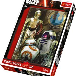 Puslespill Star Wars droide. 160 biter pusle fra Starwars filmene av Disney.