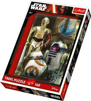 Puslespill Star Wars droider, 160 biter
