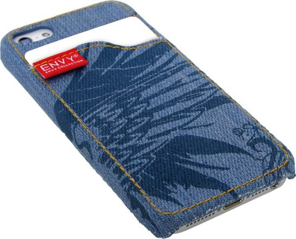 iPhone 5 cover, jeans blå