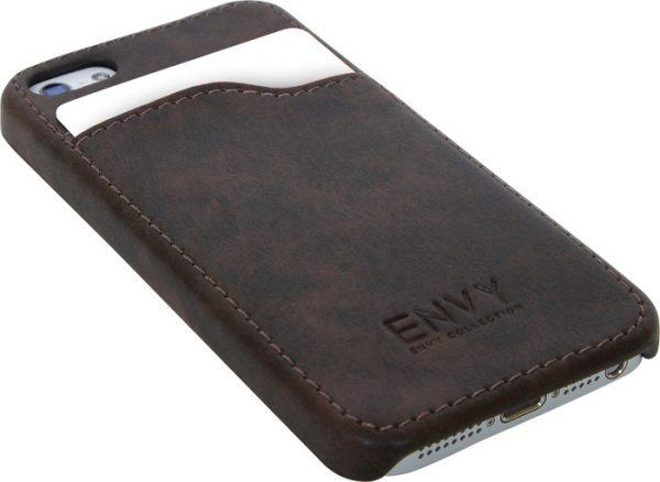 iPhone 5 cover, kunstlær brun