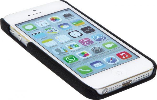iPhone 5 cover, kunstlær sort