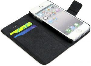 iPhone 5 deksel i kunstlær, brun