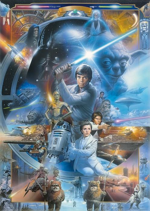 Puslespill Star Wars, 1000 brikker