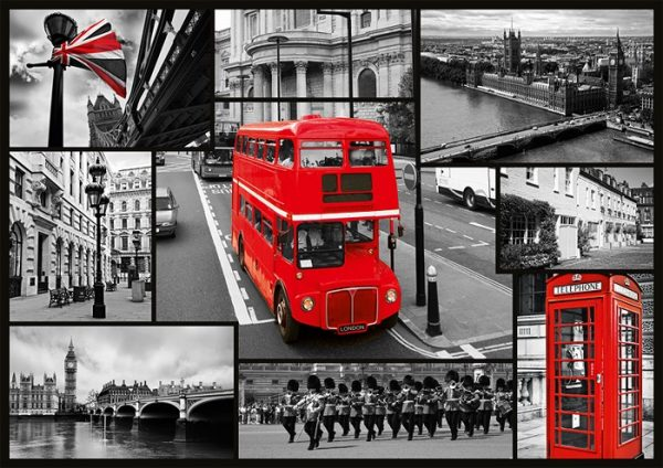 Puslespill London, collage
