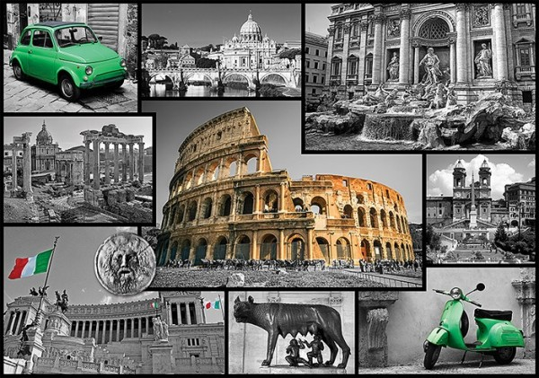 Puslespill Roma, collage