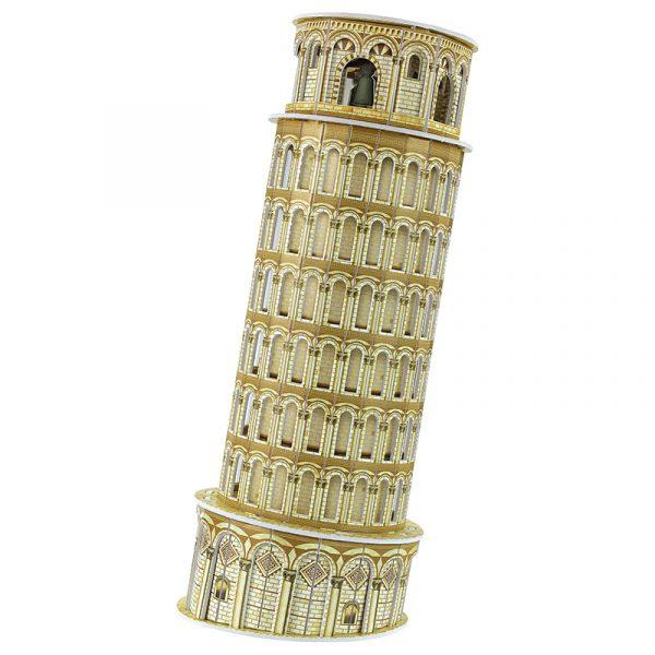3D puslespill Skjeve tårn i Pisa. Tredimensjonalt puslespill av Det skjeve tårn i Pisa.