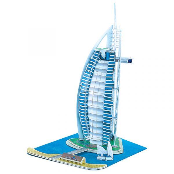 3D puslespill Burj Al Arab, Dubai. Tredimensjonalt puslespill av Burj Al Arab.