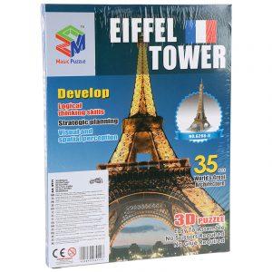 3D puslespill eiffel tårnet i Paris. Tredimensjonalt puslespill av eifeltårnet.