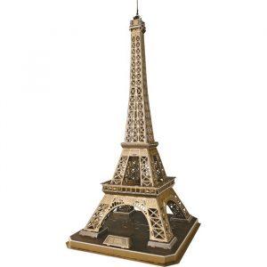 3D puslespill Eiffel tårnet i paris. Tredimensjonalt puslespill av Eiffeltårnet.