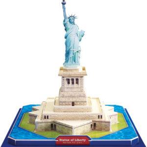 3D puslespill Frihetsgudinnen i New York.