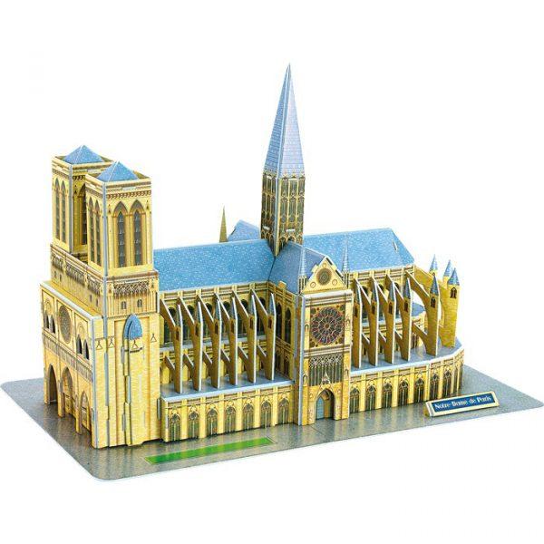 3D puslespill Notre-Dame i Paris. Dette tredimensjonale puslespillet gir en fin utfordring med å sette sammen katedralen Notre Dame.