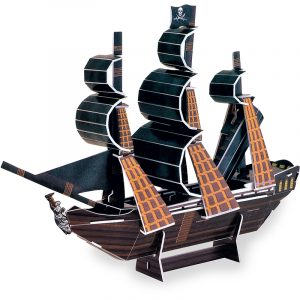 Piratskip Black Pearl 3D puslespill. Et pirat pusle spill.