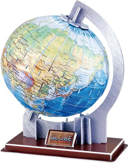 3D puslespill Verden. Pusle jordkloden sammen til en flott globus.