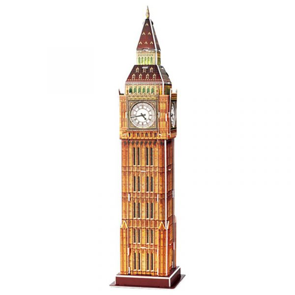 3D puslespill Big Ben i London.