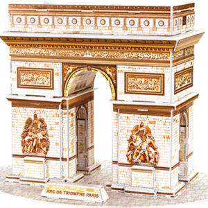 3D puslespill Triumfbuen fra Paris