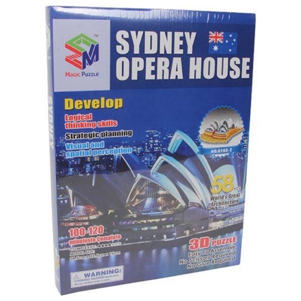 3D puslespill Operahuset i Sydney