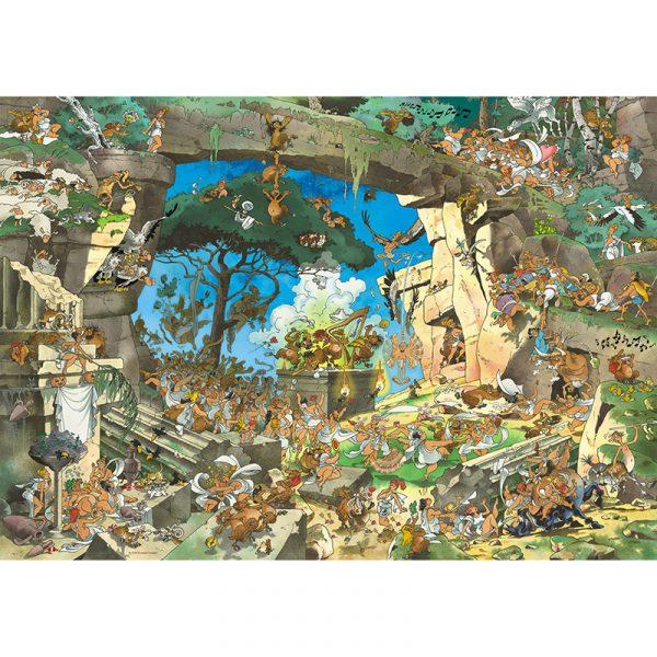 Puslespill Satyrs Callig 1000 brikker. Pusle spill på 1000 biter med morsomme tegneserie illustrasjoner.