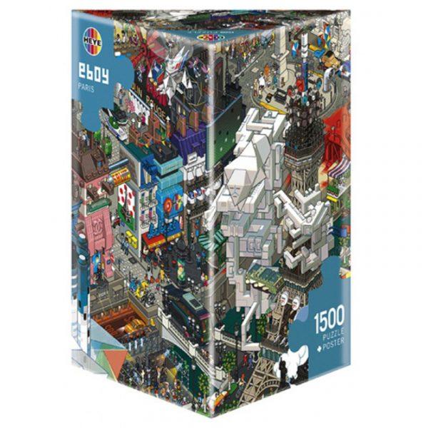 Puslespill E-Boy Paris 1500 brikker. Pusle spill på 1500 biter, tegneserie fra Paris.