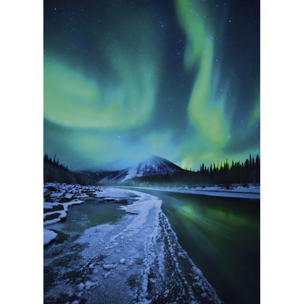 Puslespill Northern Lights 1000 biter / brikker. Nordlyset er fascinerende vakkert. Pusslespill fra Heye Puzzle.