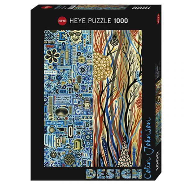 Puslespill Duality 1000 biter / brikker. Fra den Amerikanske kunstneren Colin Johnson. Pusslespill fra Heye Puzzle.