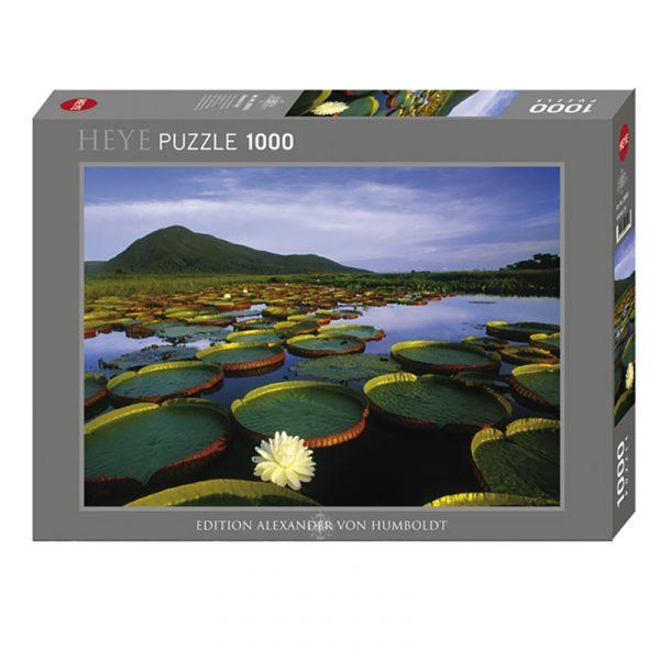 Puslespill Victoria Lily 1000 biter / brikker. Motivet er av vannlilje oppkalt etter Dronning Viktoria. Pusslespill fra Heye Puzzle.