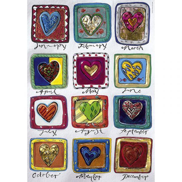 Puslespill Hearts of gold 500 biter / brikker. Year of love, motiv med mange detaljer. Pusslespill fra Heye Puzzle. Fra Hearts of Gold serie.