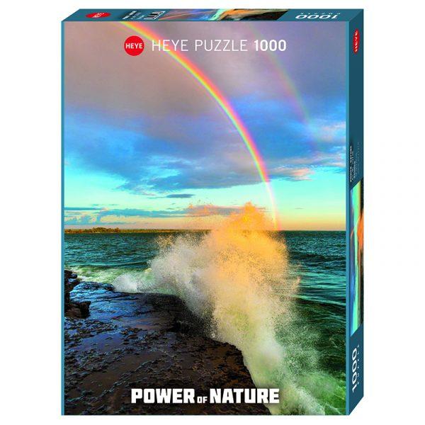 Puslespill Rainbow 1000 biter / brikker. Regnbuen er fascinerende vakker. Pusslespill fra Heye Puzzle.