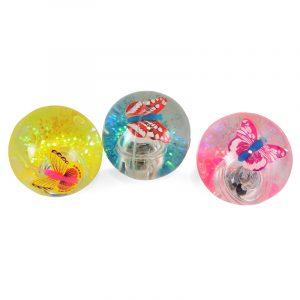 Sprettball med blinkende LED lys