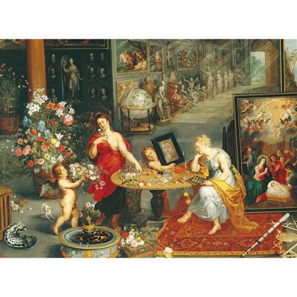 """Puslespill 6000 brikker Clementoni Museum collection. Bruegel. """"Allegoria della vista e dellólfatto"""""""