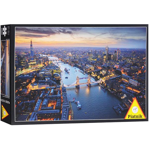 Puslespill London. Et pusslespill med 1000 brikker fra Piatnik. Flott oversiktsbilde over London by.