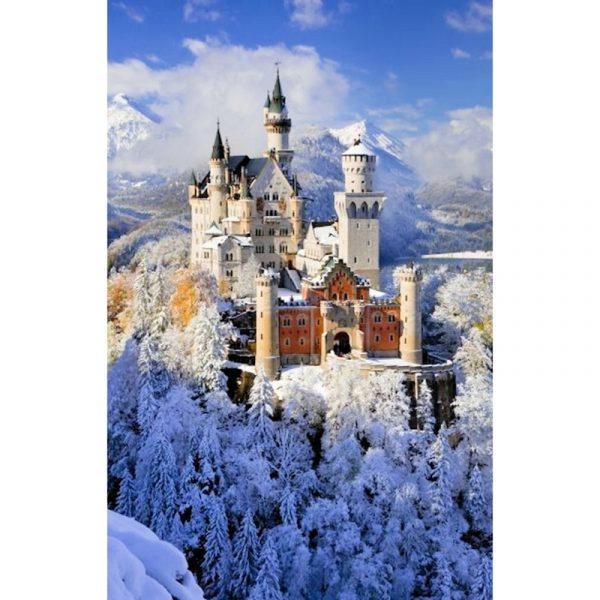 Puslespill Neuschwanstein. Et pusslespill med 1000 brikker fra Piatnik. Kjent turistmagnet i Tyskland.